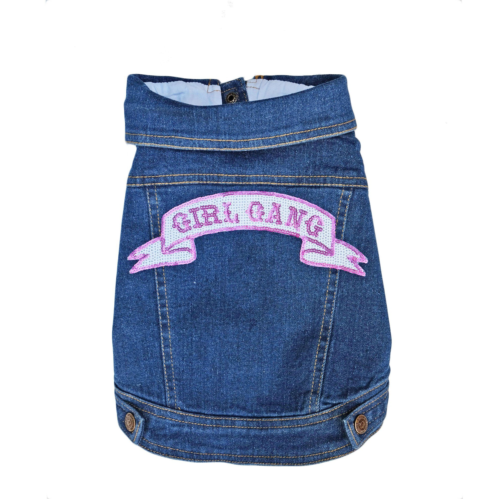 Denim Dog Vest, Denim Dog Jacket, Girl Gang Denim Dog Vest, Pethaus