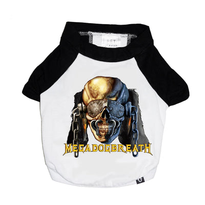 Heavy metal dog tee, raglan dog tee, Metal band tee for dogs