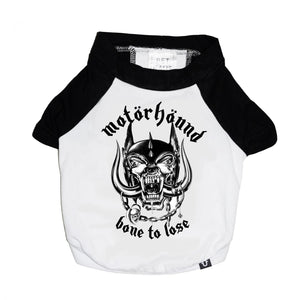 Motorhead dog tee, raglan tee for dog, Metal band tee for dogs