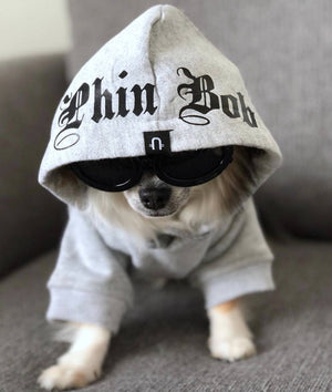 Dog hoodie, dog sweatshirt, dog coat, Personalised dog hoodie, Grey dog hoodie,Personalised dog sweatshirt, Gangsta Yapper, Pethaus