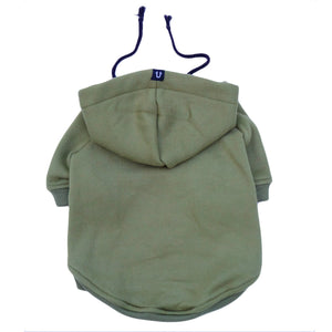 Army green dog hoodie, dog coat by Pethaus Australia - designer dog clothes