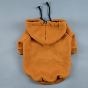 Tan or Orange dog hoodie, dog coat by Pethaus Australia - designer dog clothes