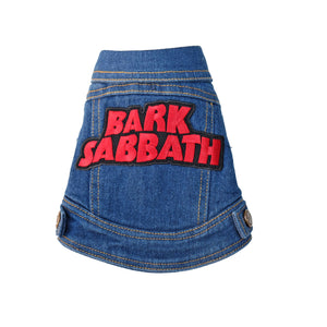 Denim Dog vest Bark Sabbath