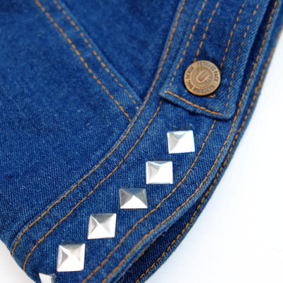 Dog denim vest with studs by Pethaus