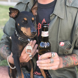 Dog Id tag bottle opener