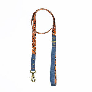 denim dog leash, denim dog lead, leopard print dog leash, designer dog leash, Australian dog leash, Pethaus, nylon webbing dog leash, cool dog leash,