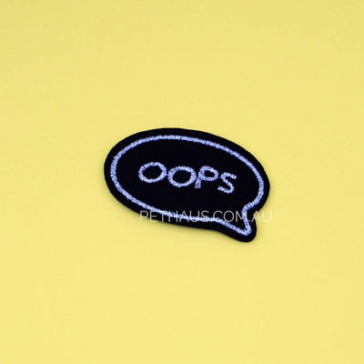 Opps embroidered patch, funny patch, kawaii patch
