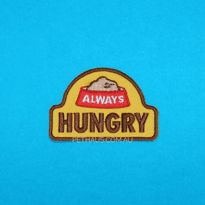always hungry patch, scouts honour patch, patch for dog, merit badge, dog bandana patch, pethaus