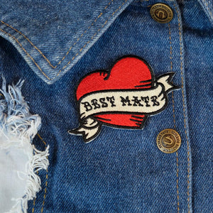 Best mate embroidered patch, heart patch, tattoo patch, tattoo heart patch, dog patch, patch for dog, pethaus