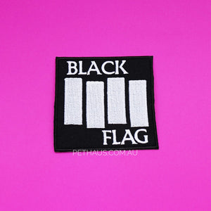 Black flag embroidered patch, hardcore punk patch, punk patch, patches for dogs, dog vest patches
