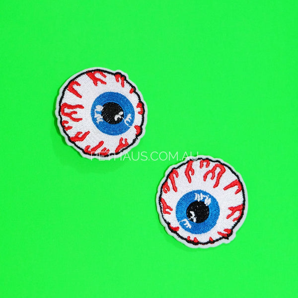 eyeball patch, creepy eyeballs, cool patch, dog patch