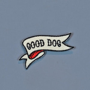 Good dog embroidered patch, patch for dog vest, dog patch, good dog, Pethaus, dog denim