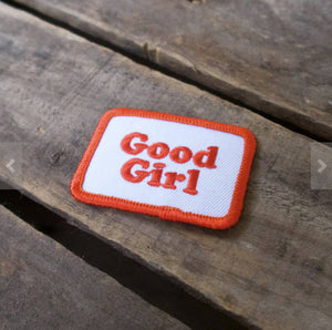 Good girl patch, cool patch, embroidered patch for dog clothing, Scouts honour