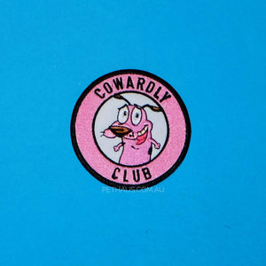 cowardly dog patch, dog patch, cowardly club, cool patch