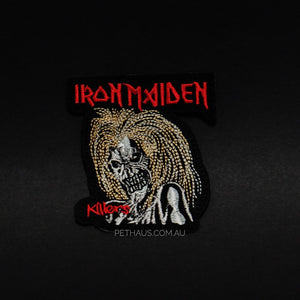 Iron maiden patch, iron maiden killers patch, eddie patch, band patch, heavy metal patch, Pethaus.