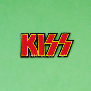 Kiss band patch, rock patch, dog patch