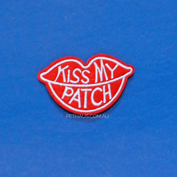 Kiss My Patch embroidered patch, Kiss Patch, Lips Patch, Cool Patch