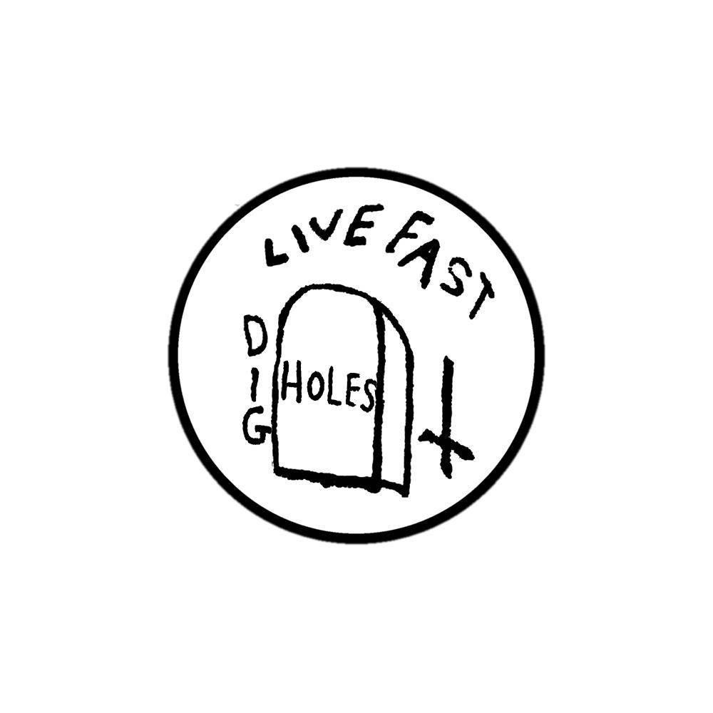 Live fast dig holes embroidered patch, Live fast die young GG Allin patch