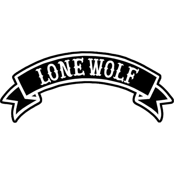 Lone wolf embroidered patch