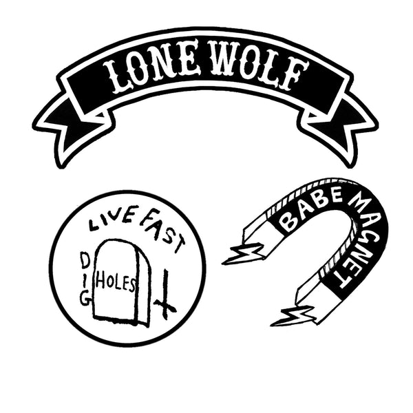 Lonewolf Embroidered patch set by Pethaus
