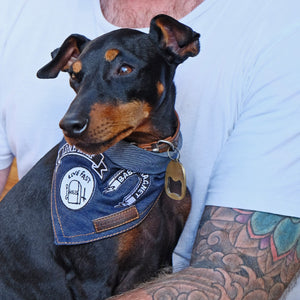 Dog patches by pethaus Denim Dog bandana