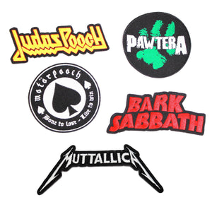 Metal Dog, Heavy Metal Dog, Muttallica, Bark Sabbath, Pawtera, Dog patches