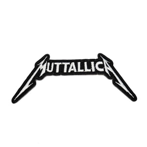 Muttallica patch, Metallica patch, dog patch, Heavy metal patch.