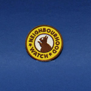 neighbourhood watch patch, scouts honour patch, squirrel patch, patch for dog, dog patch, merit badge