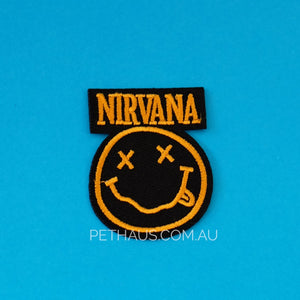 Nirvana patch, grunge patch, band patch