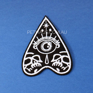 Ouija Board heart embroidered patch