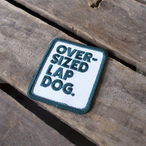 over sized lap dog patch, dog patch, patch for dog clothing, Scouts honour patch