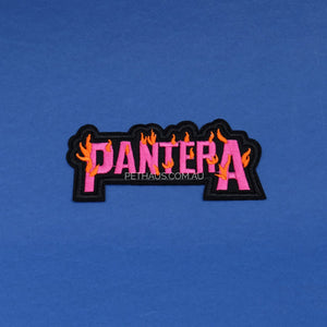 pantera patch, heavy metal patch, patches for dog vests