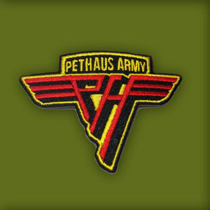 Pethaus army patch, patch for dog vest, dog patch, dog denim