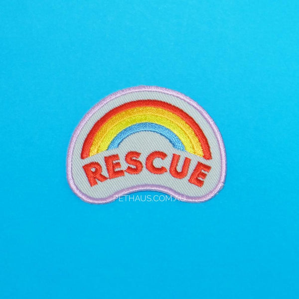 rescue dog patch, rescue patch, scouts honour patch, pethaus, patch for dog, dog patch, rainbow patch