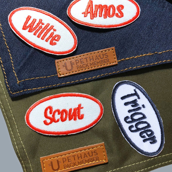 Mechanics name patch, retro patch, custom name patch, personalized embroidered patch, patch for dog