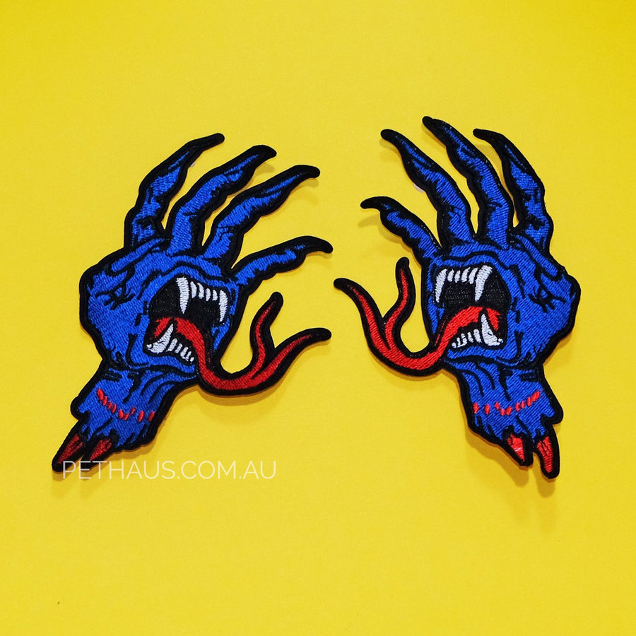 SCREAMING HAND PATCH, Skate Patch, Cool Patch, hand patch, snake tongue