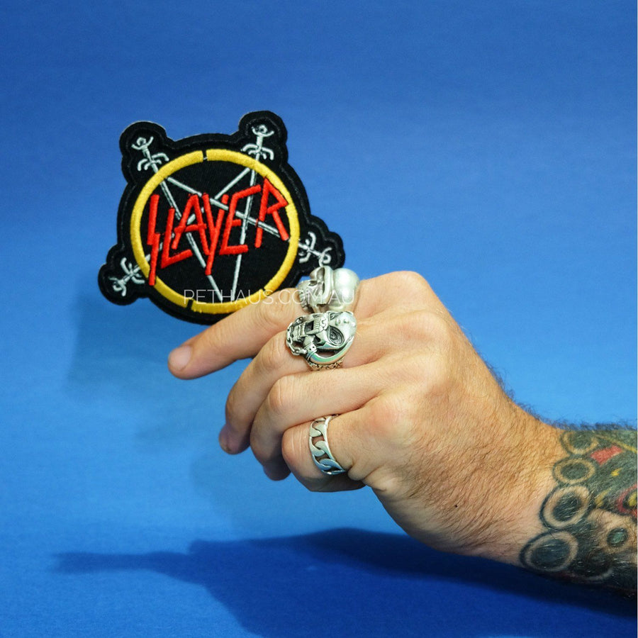 Slayer patch, heavy metal patch, band patch