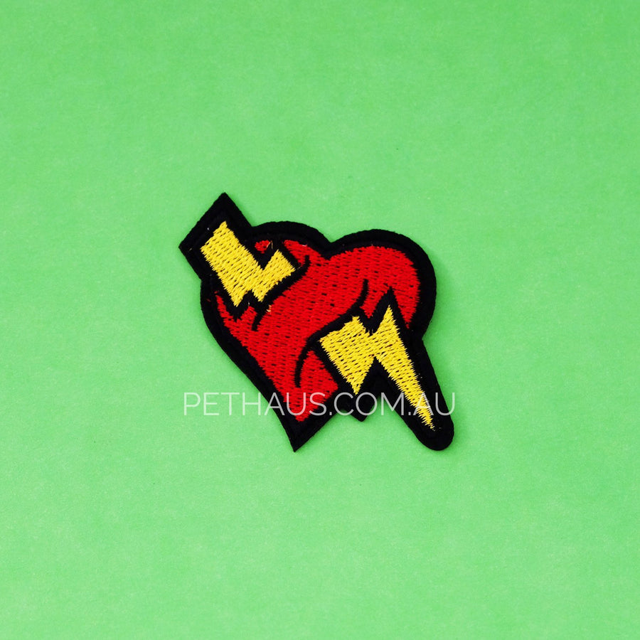 Heart Lightning bolt patch, heart patch