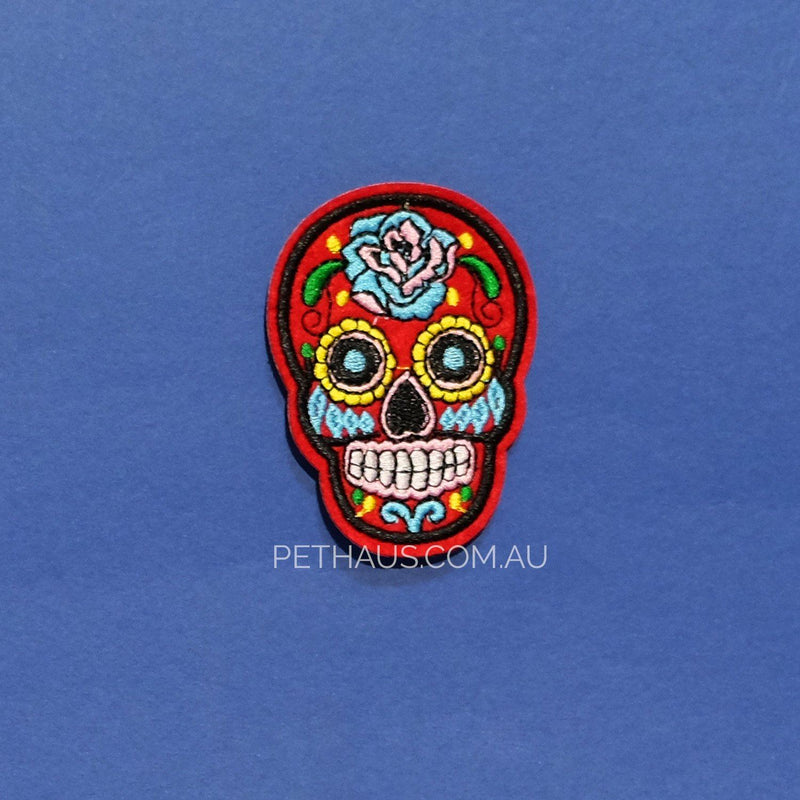 sugar skull patch, mexican patch, occult patch