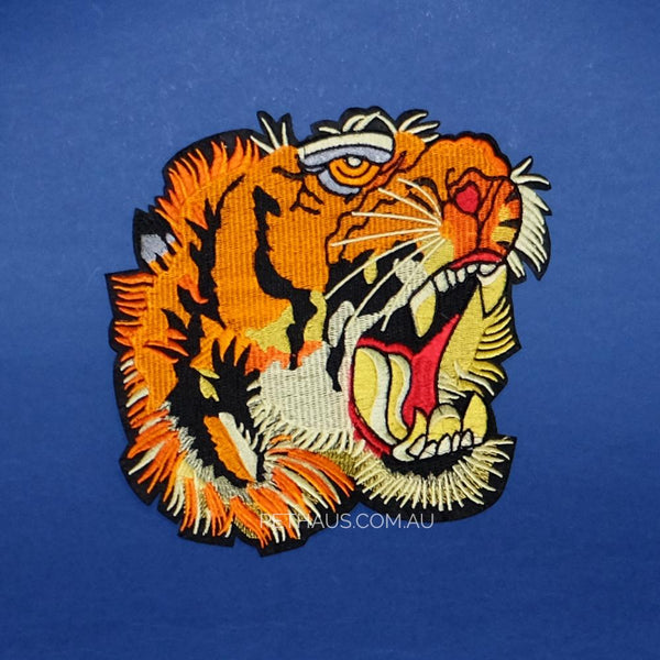 Tiger Head Back Patch, Tiger patch, Tiger embroidered patch, Tiger Tattoo