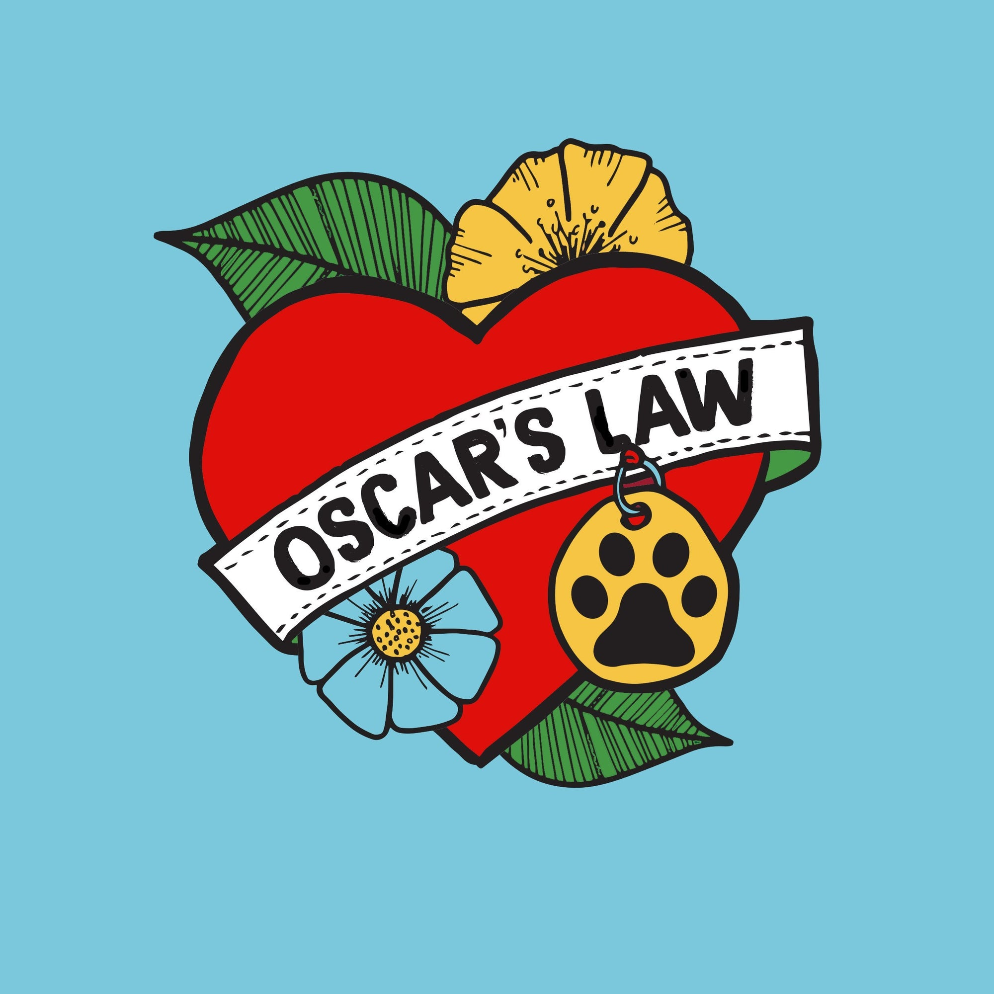 Oscars law patch, patch for dog, dog patch, heart patch, Pethaus,  anti puppy mill, ban puppy farming.