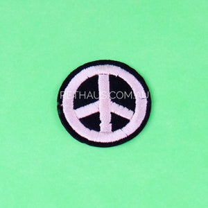 Peace sign embroidered patch, peace patch, woodstock patch, hippy patch
