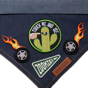 Scouts honour patch, Zoomies patch, dog bandana patches, Pethaus, denim dog bandana