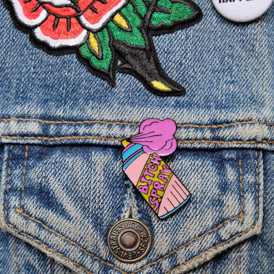 Bitch Spray enamel pin