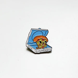 Pizza Pupperoni enamel pin