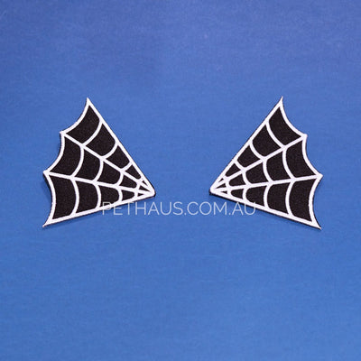 web patch, spider web embroidered patch, cool patch