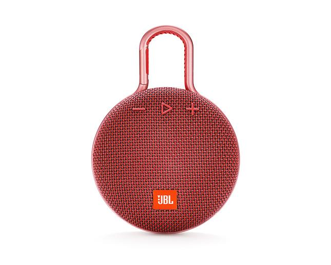 JBL CLIP3 BLUETOOTH SPEAKER WITH CARABINER RED
