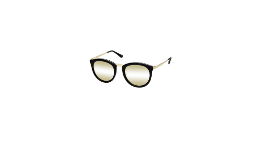 LE SPECS NO SMIRKING MATTE BLACK GOLD 1602145