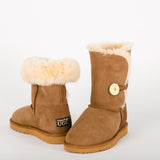UTCUGG04  Urban Ugg 3/4 Length Button Chestnut Boot
