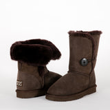 UTCUGG05 Urban Ugg 3/4 Length Button Chocolate Boot